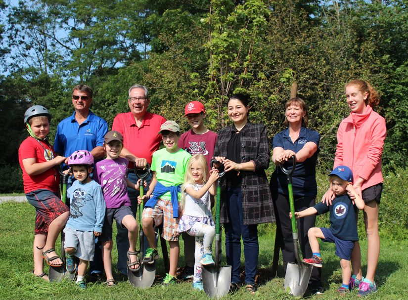 Dedication of a Red Maple Tree commemorating The Great Trail, August 2017